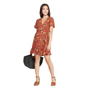 Xhilaration Dresses - NWT Xhilaration Wrap Mini Dress Large Terracotta